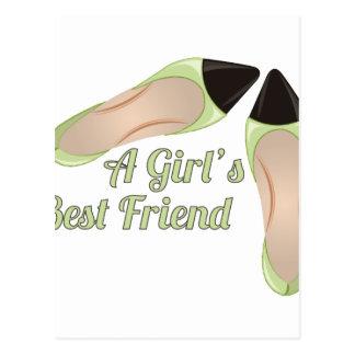 Girls Best Friend Postcard