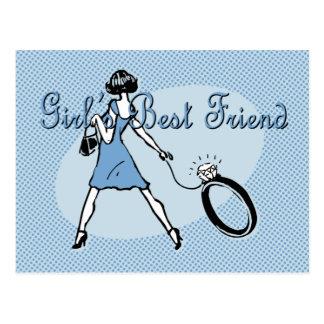 Girl's Best Friend Postcard