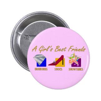 Girl's Best Friends Button