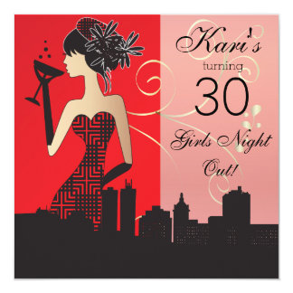 Girls Birthday or Bachelorette Bash 13 Cm X 13 Cm Square Invitation Card