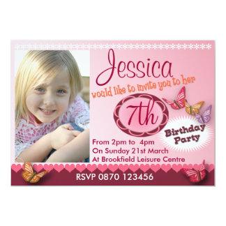 Girls Birthday Photo Invitation - Any Age