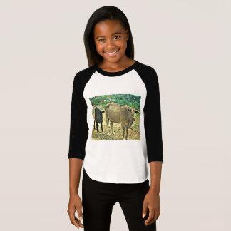Girl's Bisbee Cows Raglan Tee Shirt