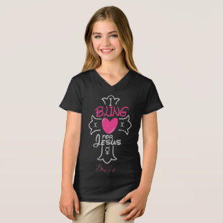 Girls' Bling Life I Bling for Jesus Shirt
