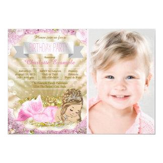 Girls Blonde Mermaid Birthday Party 13 Cm X 18 Cm Invitation Card