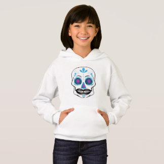 Girls Blue Candy Skull Hoodie