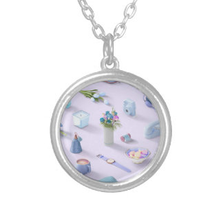 Girl's Blue Dream Silver Plated Necklace