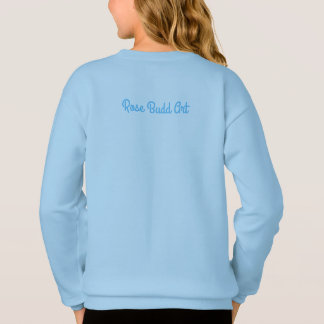 girls blue sweater