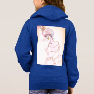 girls blue zip up hoodie