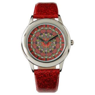 Girl's Brilliant Red Wrist Watch