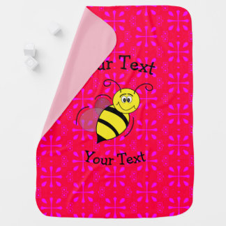 Girls Bumble Bee Baby Blanket