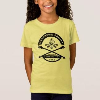 Girls' Camping Trip Reunion Shirt   Black Design