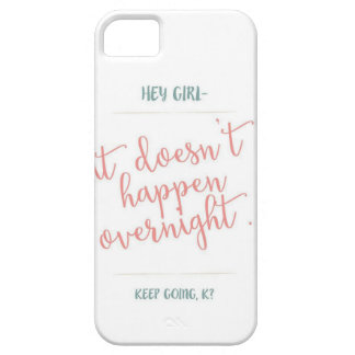girls can achieve too barely there iPhone 5 case