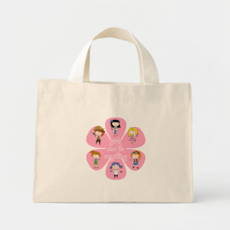 Girls can be anything flower tote bag