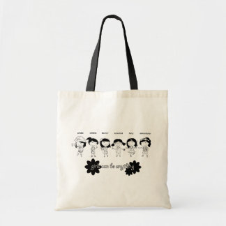 Girls can be anything tote bag