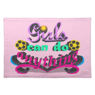 Girls Can Do Anything Placemat