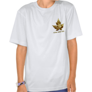 Girl's Canada T-shirt Gold Team Canada Kid's Shirt