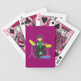 Girls Can't WHAT? ColorizeME Custom Design Bicycle Playing Cards