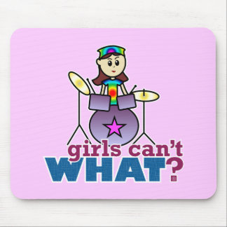Girls Can't WHAT? Drummer Mouse Pads