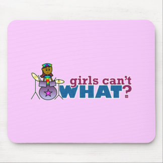 Girls Can't WHAT? Girl on Drums Mousepads
