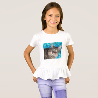 Girls' cat shirt