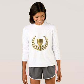 Girls Champion - White Long Sleeve Shirt