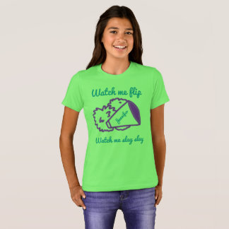 Girls cheerleading-watch me flip shirt