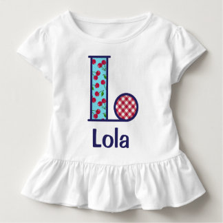 Girls Cherry Shirt Toddler Girl Monogram Top L