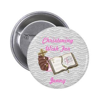 Girls Christening Book Pin