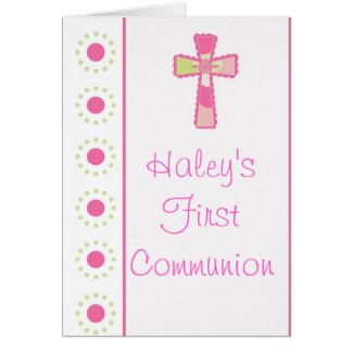 Girl's Communion or Christening Invitations
