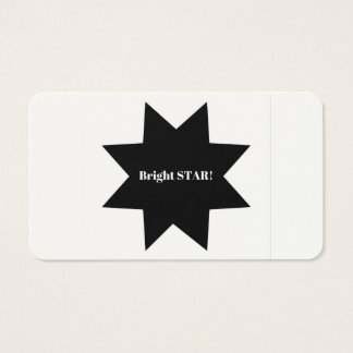 Girls company design solution / bright Star Business Card