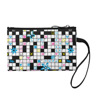 Girl's crossword puzzle coin purse