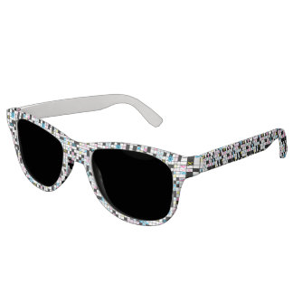 Girl's crossword puzzle sunglasses