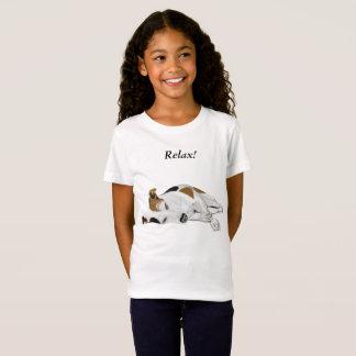 Girls Cute Sleeping Jack Russell T-Shirt