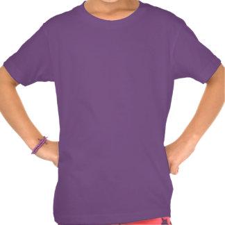 Girl's Daisy T-shirt Organic Purple Flower Shirt