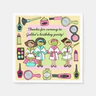 Girls Day Spa Birthday Paper Napkins