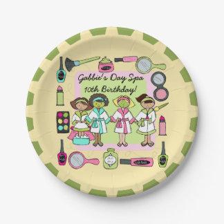 Girls Day Spa Birthday Paper Plate