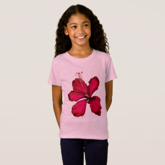 Girls design tshirt with Magic big flower