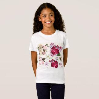 Girls designers tshirt with Folk flowers