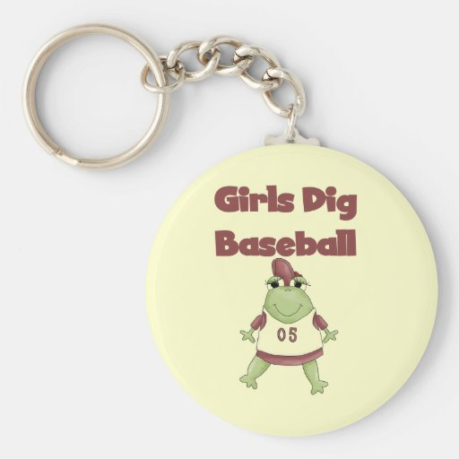 Girls Dig Baseball T shirts and Gifts Keychains