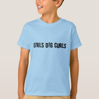 Girls Dig Curls Funny Curly-Haired Man or Boy's T-Shirt