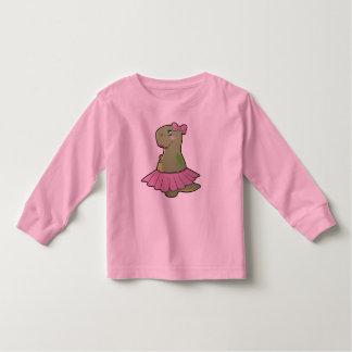 Girls Dinosaur T-Rex Long Sleeve Shirt