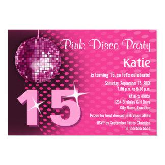 Girl's Disco Birthday Party 13 Cm X 18 Cm Invitation Card