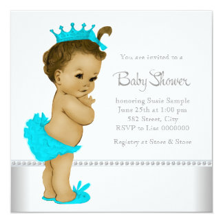 Girls Ethnic Baby Shower 5.25x5.25 Square Paper Invitation Card