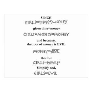 girls = evil postcard