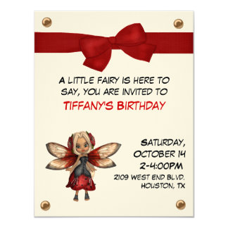 Girl's Fairy Party Invitation