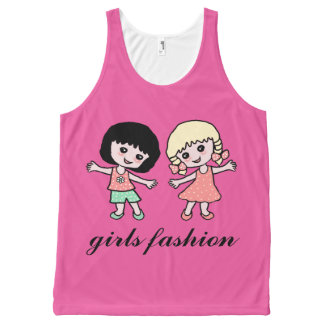 girls fashion All-Over print tank top