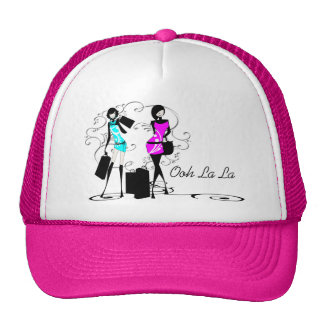 Girls fashion models chic couture mesh hats