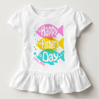 Girls Fathers day Shirt Toddler Girl Fish Shirt