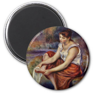 Girl'S Feet Dry By Pierre-Auguste Renoir Refrigerator Magnets