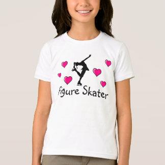 Girls, Figure Skater Shirt & Pink Hearts